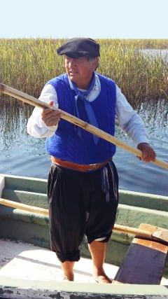 Gaucho Omar auf dem Boot