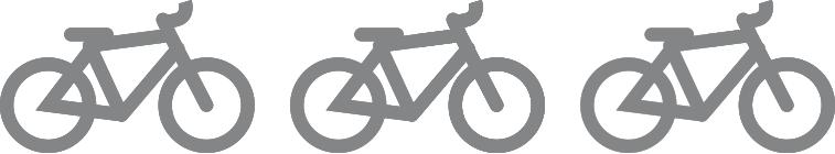 Drei graue Fahrraeder