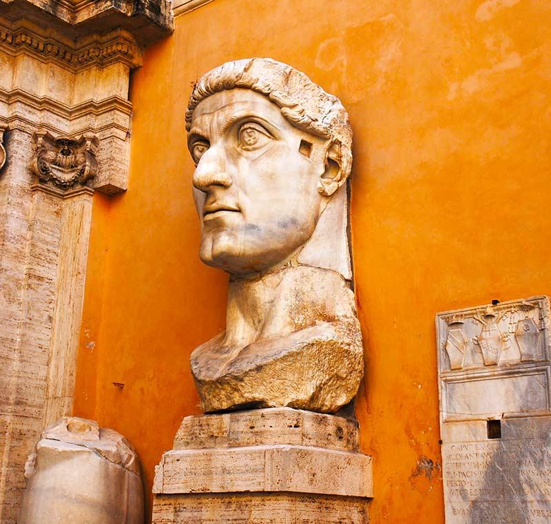 Steinerne Steinskulptur in Rom