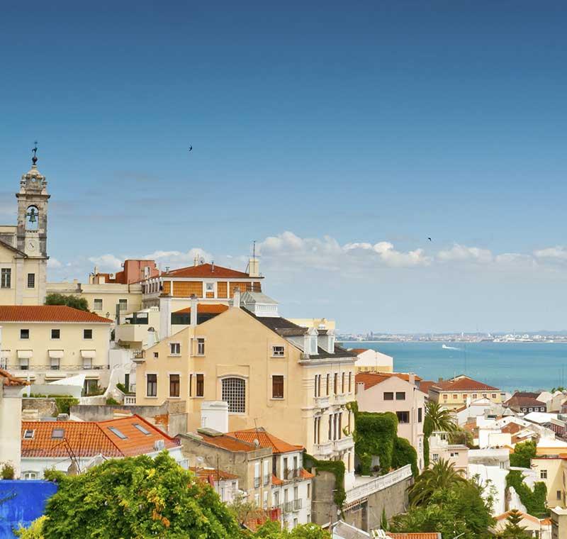 Ausblick auf die Stadt von Lissabon