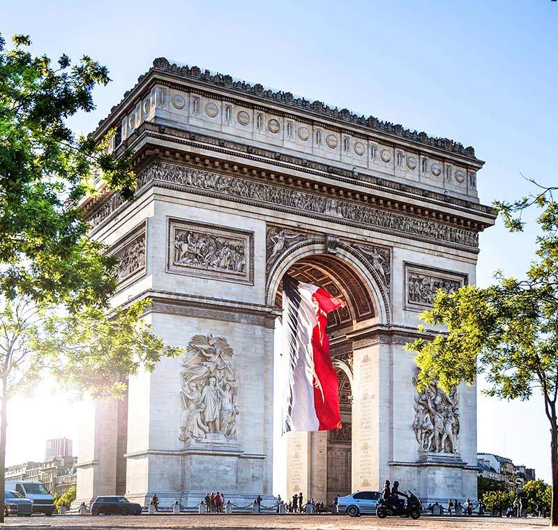 Rundreise Frankreich Arc de Triumphe