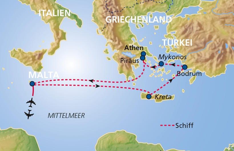 TUI Cruises Seereise Ägäis mit Kreta