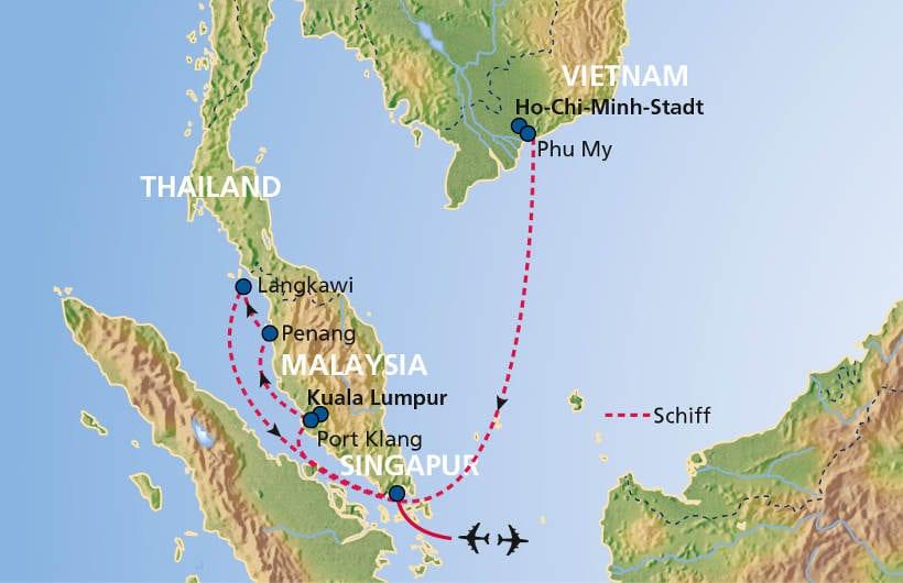 TUI Cruises Seereise Singapur bis Ho-Chi-Minh-Stadt