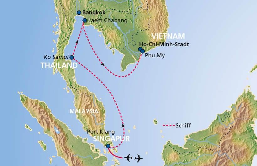 TUI Cruises Seereise Ho-Chi-Minh-Stadt bis Singapur