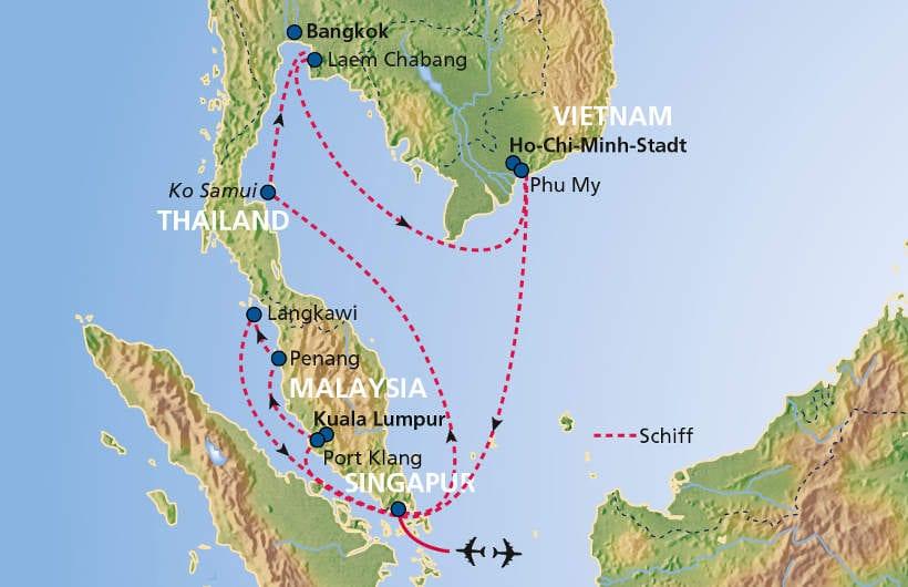 TUI Cruises Seereise Asien ab/bis Singapur