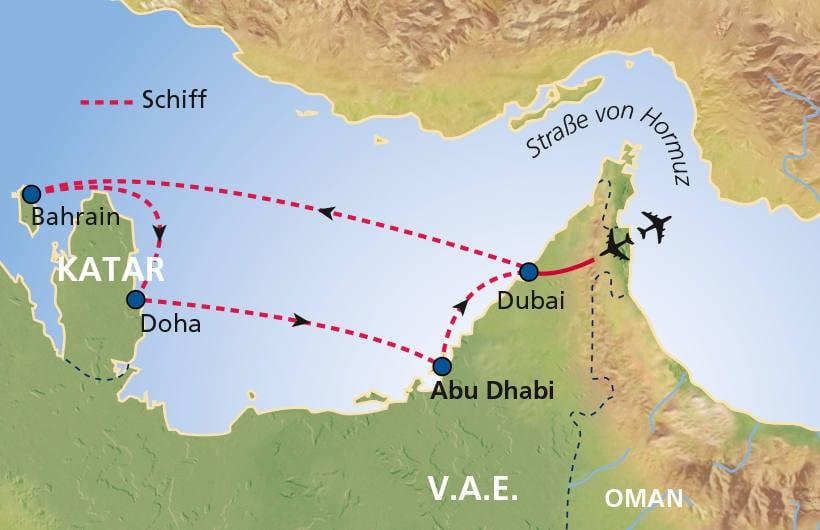 TUI Cruises Seereise Dubai mit Katar