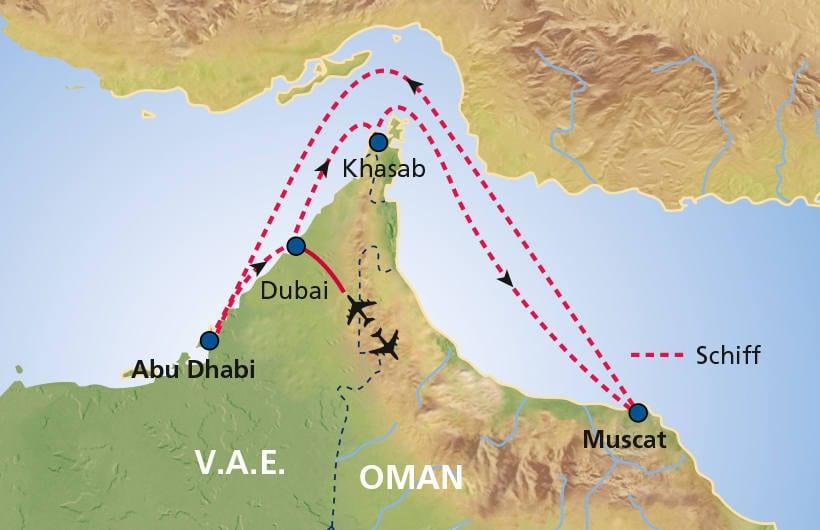 TUI Cruises Seereise Dubai mit Oman