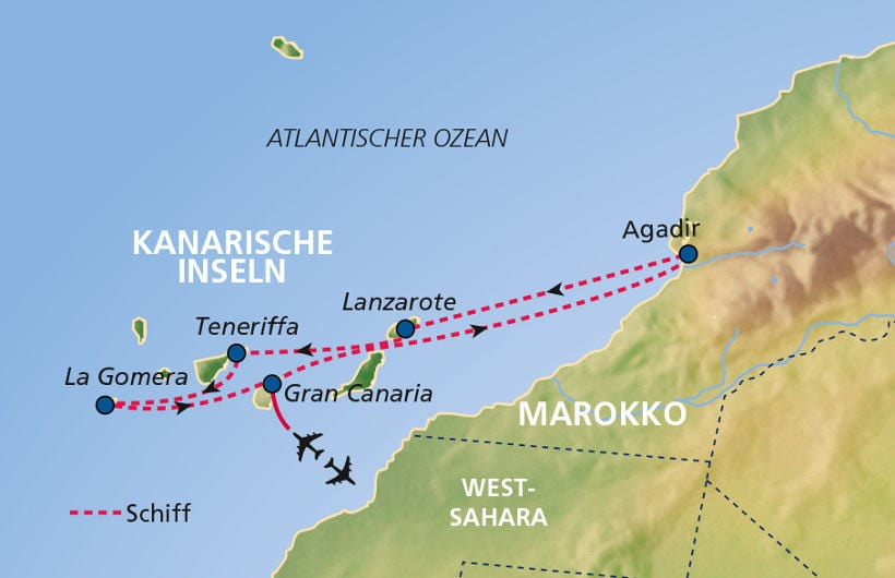TUI Cruises Seereise Kanaren mit Marokko