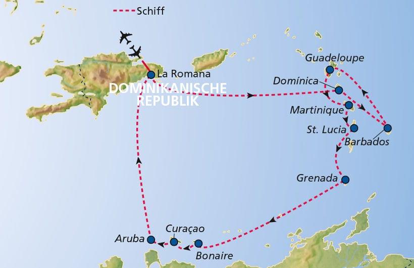 TUI Cruises Seereise Karibik ab/bis Dom. Republik