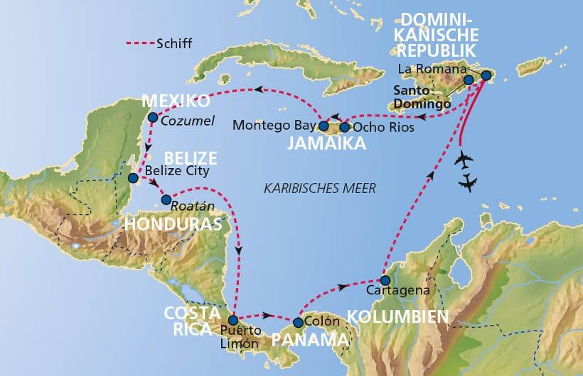TUI Cruises Seereise Mittelamerika ab/bis Dom. Republik