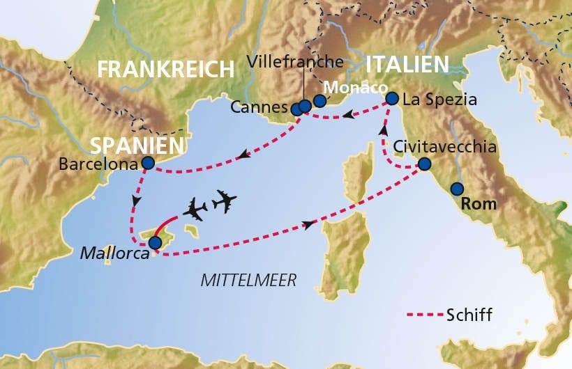 TUI Cruises Seereise Mittelmeer mit Barcelona
