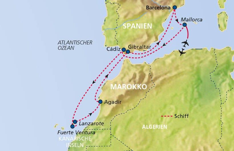 TUI Cruises Seereise Mittelmeer mit Kanaren