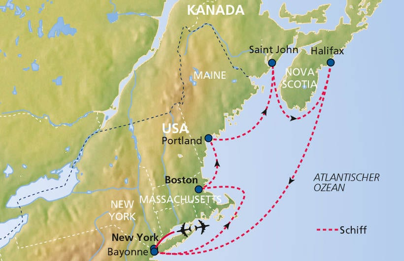 TUI Cruises Seereise New York mit Kanada