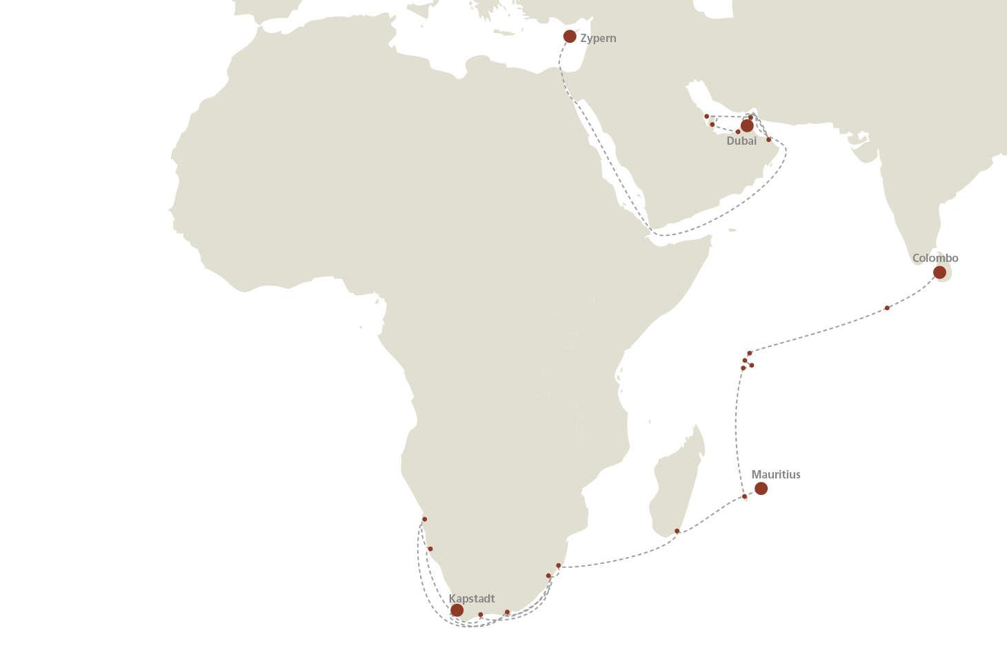 EUROPA 2 Seereisen Afrika