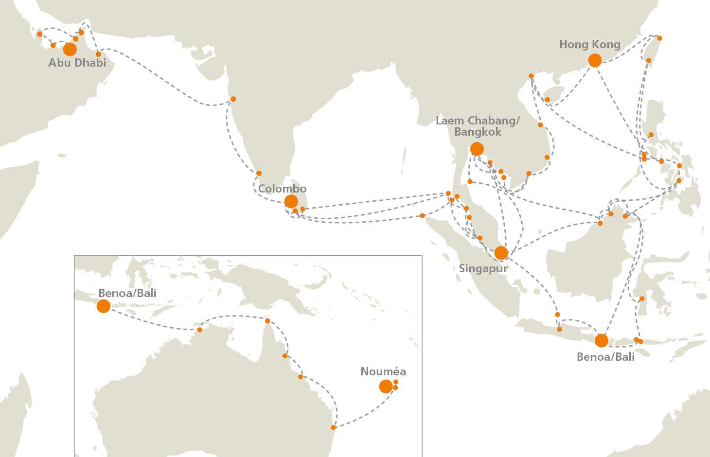 EUROPA 2 Seereisen Asien