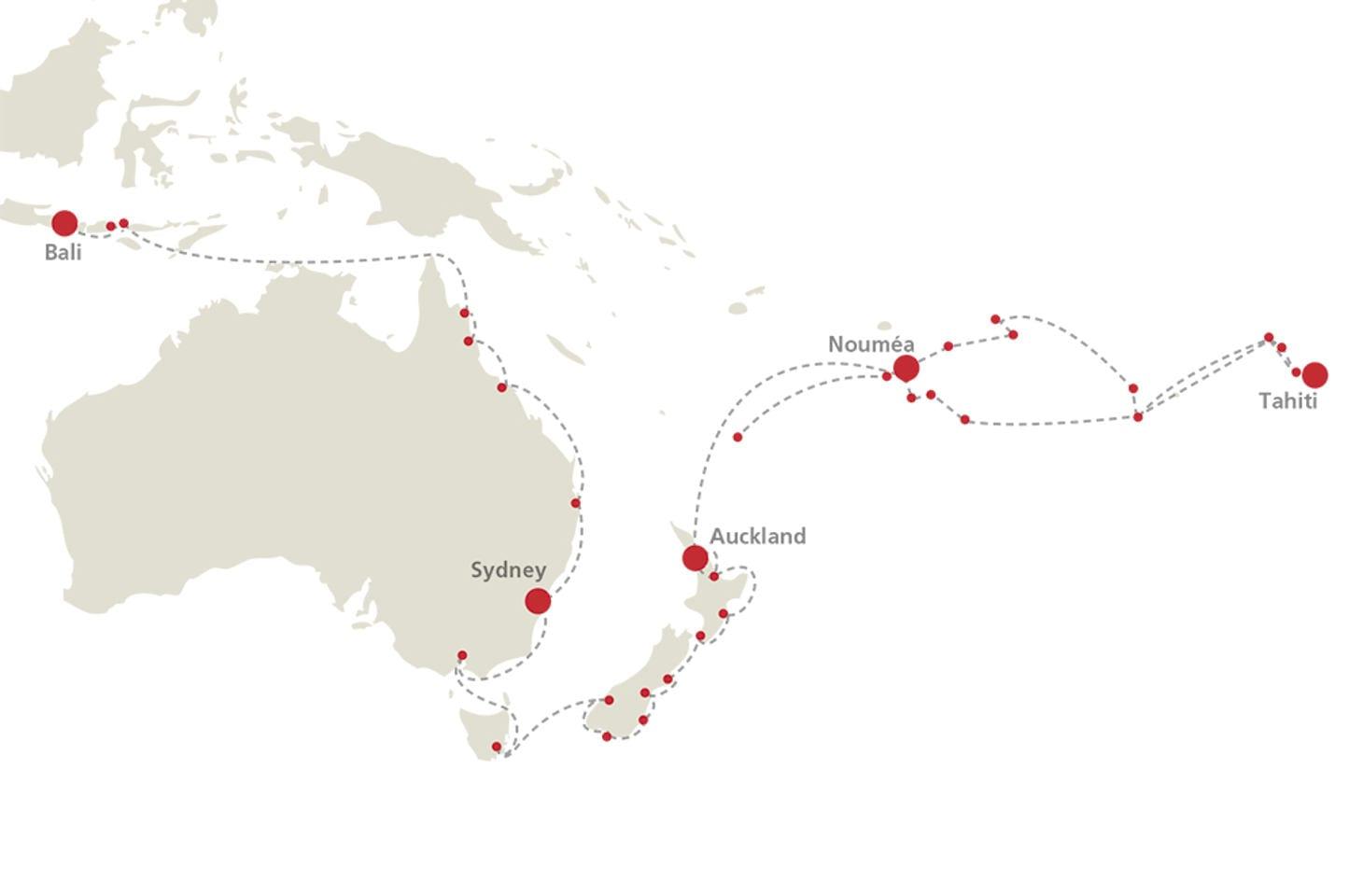 EUROPA 2 Seereisen Ozeanien