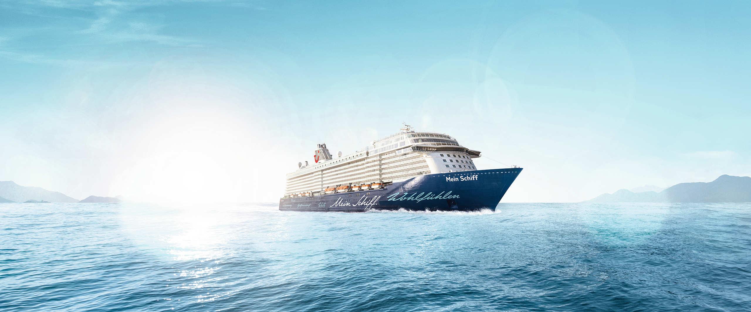Mein Schiff auf hoher See