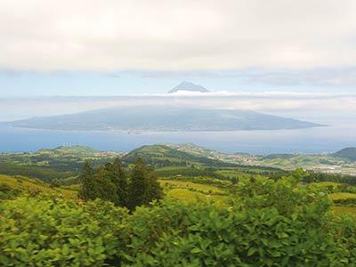 Wanderreise Azoren Blick auf Pico