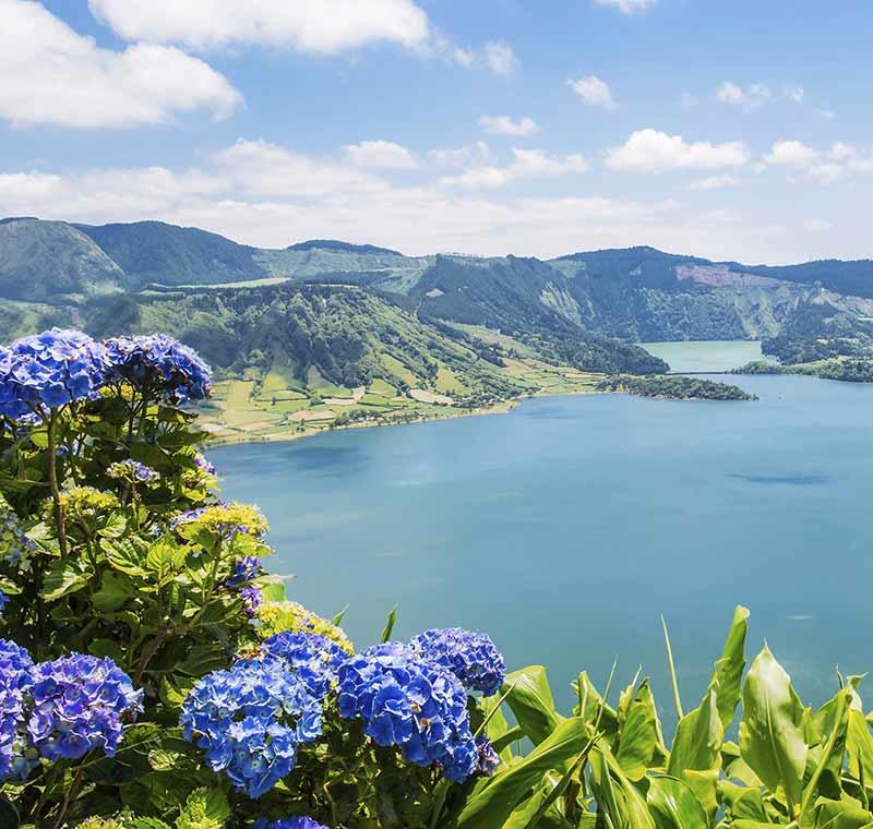 Aublick auf die Küste der Azoren