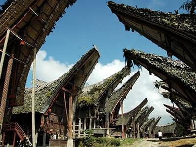 Rundreise Indonesien Sulawesi Tongkonan