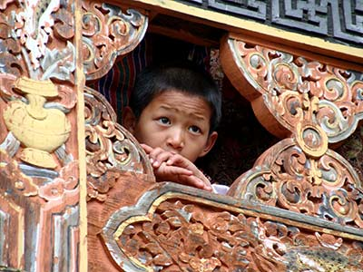 Rundreise Bhutan traditionelles Bauwerk