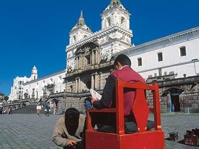 Ecuador Quito Schuhputzer