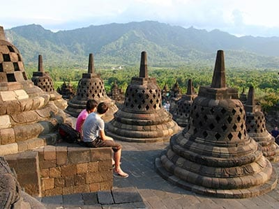Rundreise Indonesien Java Borobudur