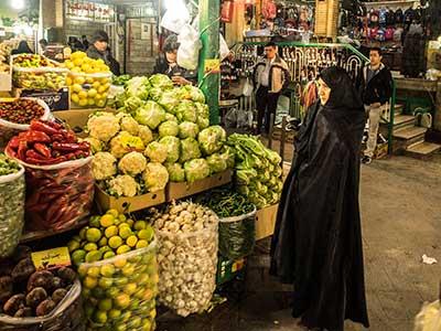 Rundreise Iran Teheran Markt