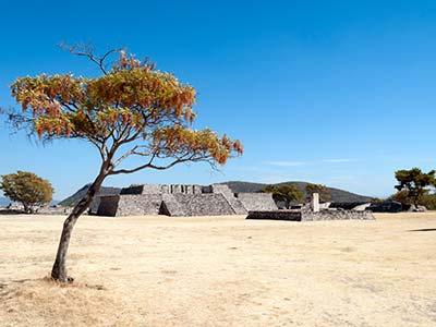 Rundreise Mexiko Xochicalco Pyramide