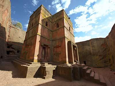 Rundreise Äthiopien Lalibela Felsenkirche