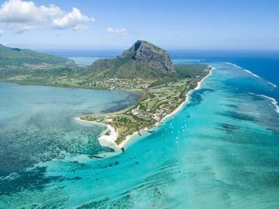Mauritius aus der Luft