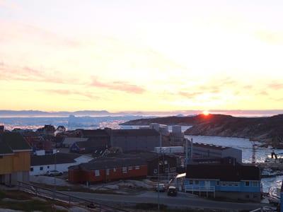 Grönland bei Mitternacht