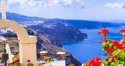 Kreta mit Blick auf das Meer