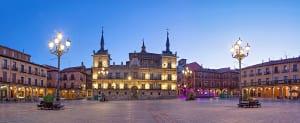 Platz in Salamanca in der Region Kastilien-Leon