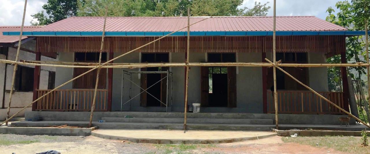 Baustelle der Amaka Basic Primary School in Myanmar am Inle See