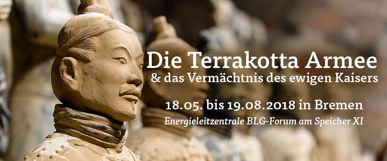 Vom 18.05 bis 19.08 2018 wird die Terrakotta Armee in Bremen ausgestellt