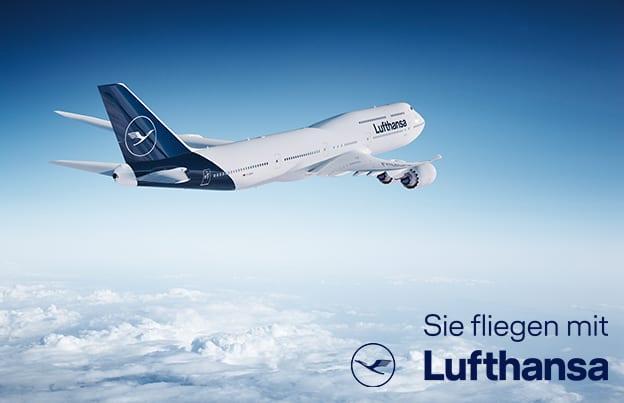 Sie fliegen mit Lufthansa
