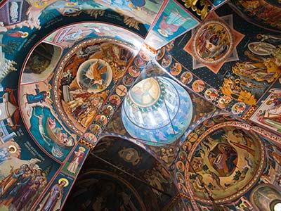 Rundreise Rumänien Bukarest Kirchenmalerei