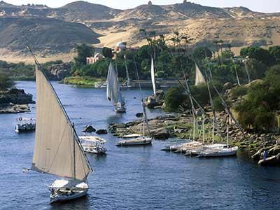 Rundreise Ägypten Segelboote Nil