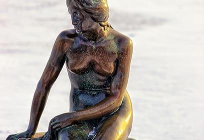 Kleine Meerjungfrau in Kopenhagen, Dänemark