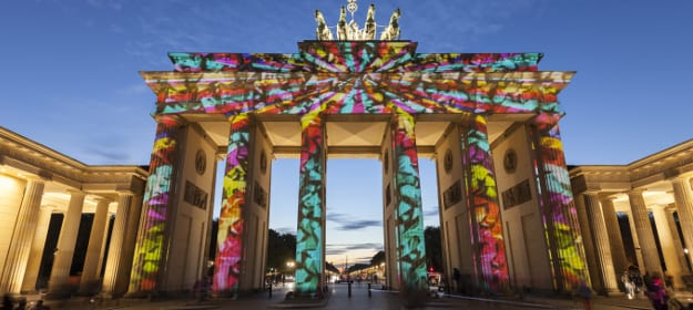 Brandenburger Tor beim Festival of Lights in Berlin