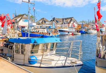 Hafen auf Hiddensee