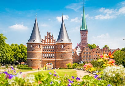 Holstentor in Lübeck, Schleswig-Holstein