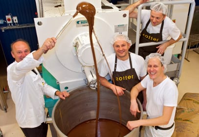 Zotter Schokoladen Manufaktur in Riegersburg in der Steiermark, Österreich