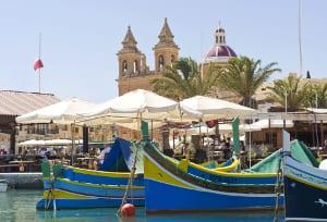 Malta Traditionelle Boote Marsaxlokk