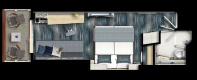 MS 1-2 Grundriss Balkonkabine
