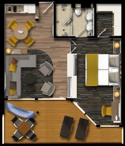 MS HERZ Grundriss Suite Veranda
