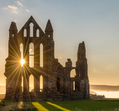 Whitby Abbey in Yorkshire, England