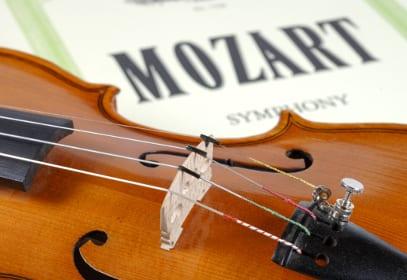 Mozart Noten mit Violine