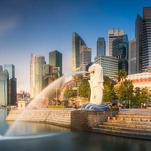 Rundreise Singapur Löwe